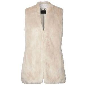 Banana Republic Cream Faux Fur Vest Size Small